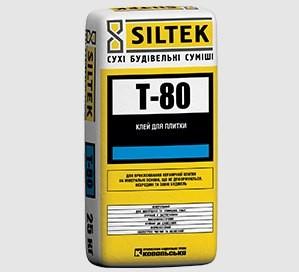 SILTEK Т-80 Для приклеивания керамической плитки на минеральные недеформируемые основания внутри и снаружи зданий