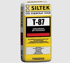 SILTEK Т-87 Для создания гидрозащитного армирующего слоя при утеплении фасадов пенополистиролом и минеральной ватой