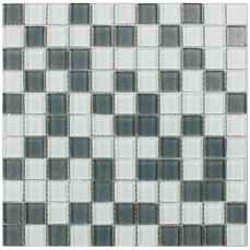 Мозаика стекло Silver White Grey 300x300x6 мм
