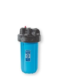 "Синий натр. корпус фильтра, типа ""Big Blue"" 10"", с клапаном, латун. резьб. 1 1/2"