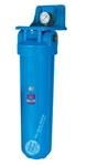 "Синий натр. корпус фильтра, типа ""Big Blue"" 20"", с клапаном, латун. резьб. 1 1/2"