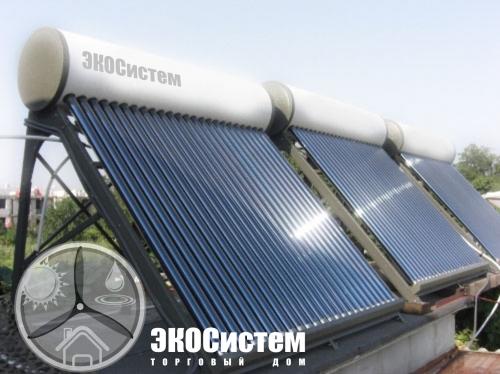 Система солнечного нагрева воды 100л