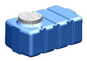 SK-100 Емкость горизонтальная. Объем 100 л. Материал: полиэтилен.