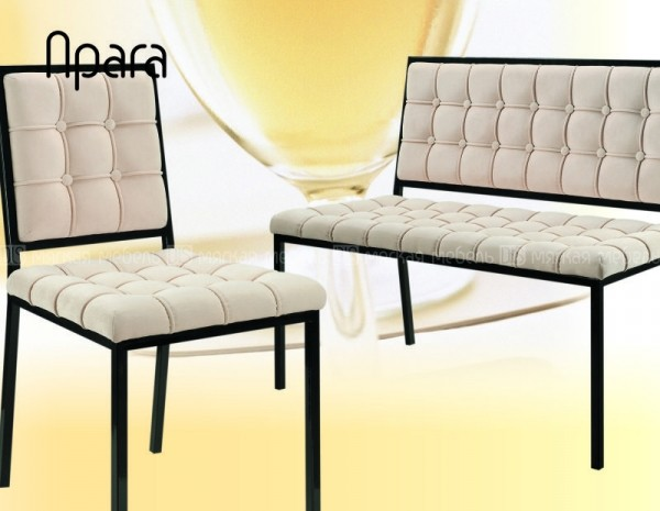 "СКАМЬЯ ""Прага"" - мебель на металлокаркасе. Для открытых зон, летних кафе, пул-бара."