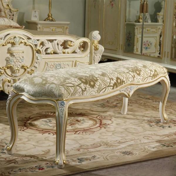 Скамейка прикроватная Курион в стиле барокко
