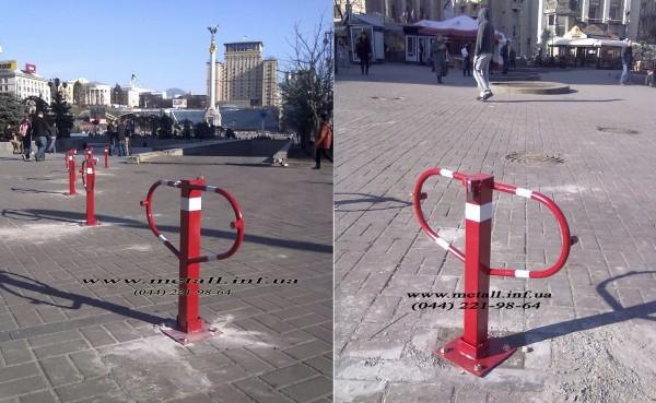 Складные парковочные барьеры «Бабочка» и складные столбики Доставка по Украине.