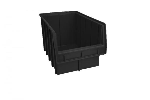 Складской ящик для хранения метизов, крепежа и мелких автозапчастей. Арт.700 (350х210х200), черный