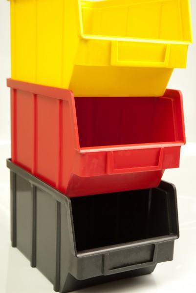 Складской ящик для хранения метизов, крепежа и мелких автозапчастей. Арт.701 (230х145х125), черный
