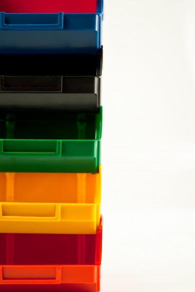 Складской ящик для хранения метизов, крепежа и мелких автозапчастей. Арт.703 (90х100х50), черный