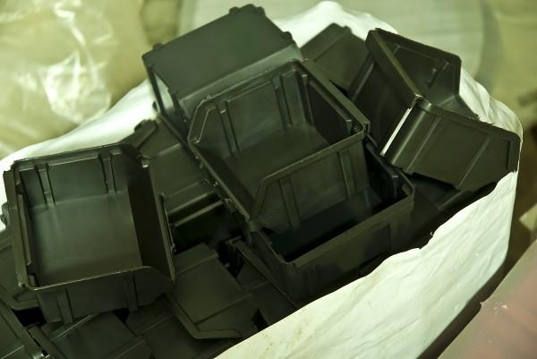 Складской ящик для хранения метизов, крепежа и мелких автозапчастей. Арт.702 (155х100х75), черный