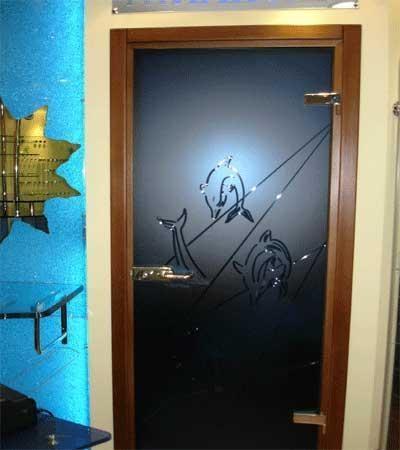 скляні радіусні двері