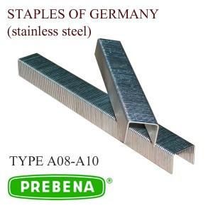Скоба из нержавеющей стали обивочная тип А08-А12