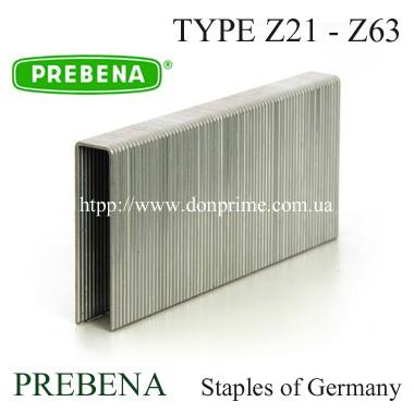 Скоба каркасная для пневмостеплера Тип — Z (11,2х21-67мм)