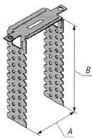 Скоба оцинкованная для крепления гипсокартона