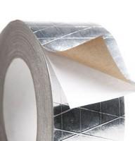 Скотч алюминиевый РЕТ ALENOR усиленный лавсановой пленкой (50 мм х 50 м) Пенофол. Изолон