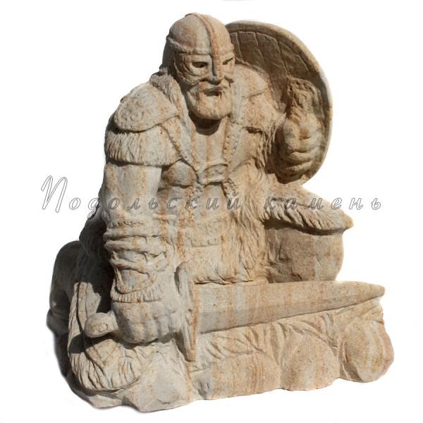 Скульптура Берсерк Песчаник Высота 38 см.