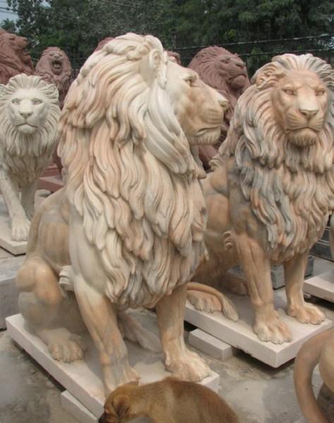 Скульптуры животных из мрамораЦена: договорная.