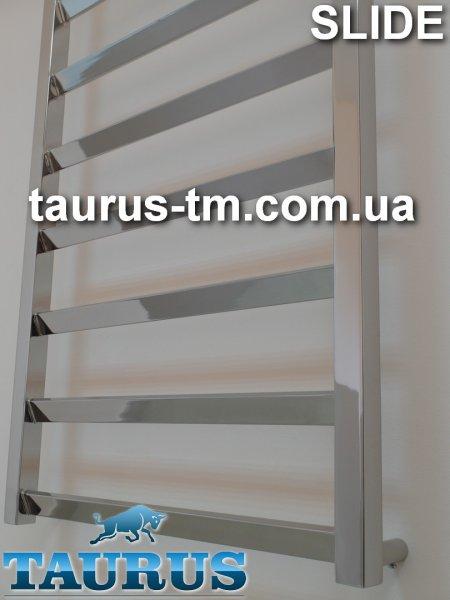 Фото  1 Высокий полотенцесушитель Slide 12 /500 из квадратной трубы. С перемычками под углом в 30 градусов. Страна Украина 1765258