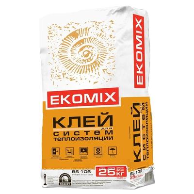 """Смесь EKOMIX """"Клей для систем теплоизоляции"""" BS 106 (доставка)"""