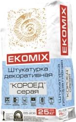 """Смесь EKOMIX """"Штукатурка """"Короед"""" серая BS 206"""