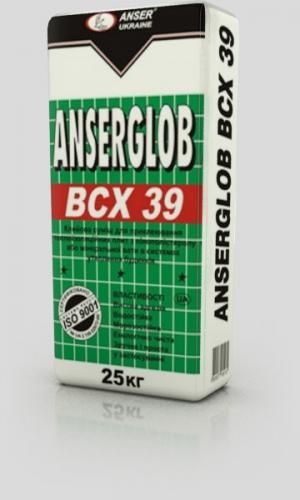 Смесь клеевая «ANSERGLOB» ВСХ 39, клей для приклеивания пенополистерола и минеральной ваты.