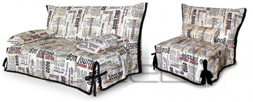 SMS комплект (диван кресло) Ткань газета A32266