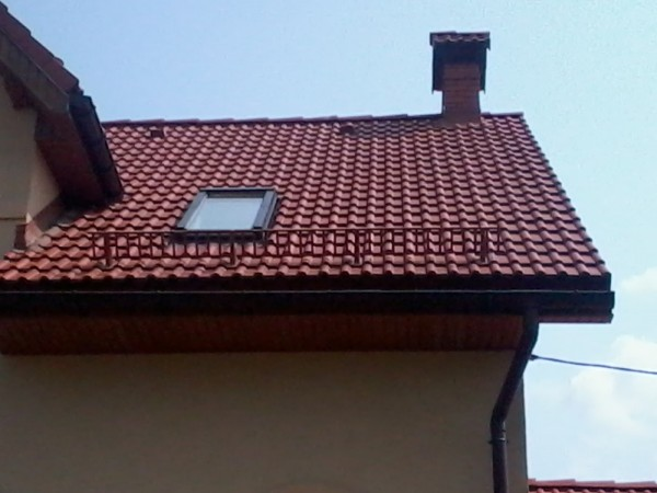 Снегоудерживающие системы Braas Франкфуртская коричневая. Полный комплект.