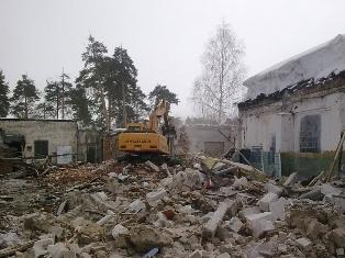 Снос и демонтаж зданий и строений.