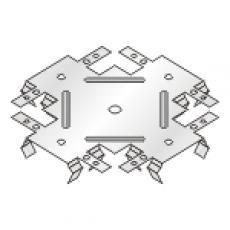 Соеденитель одноуровневый для CD60/27/краб 138х138 (уп.50шт)