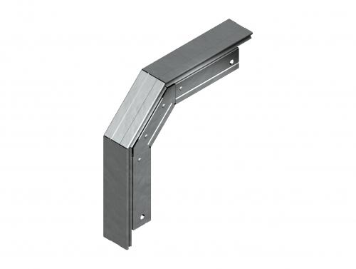 Соединитель лотка кабельного угловой вертикальный оцинкованный