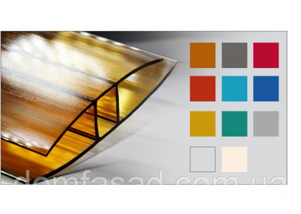 Фото  1 Соединительный неразъемный профиль для поликарбоната HP 16, Желтый 1925447