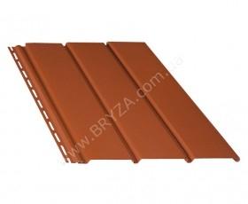 Софит (сайдинг) гладкий, цвет кирпичный / RAL 8004, Размер: 4000 мм х 305 мм = 1.22 м. кв