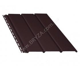 Софит (сайдинг) гладкий, цвет коричневый / RAL 8017, Размер: 4000 мм х 305 мм = 1.22 м. кв