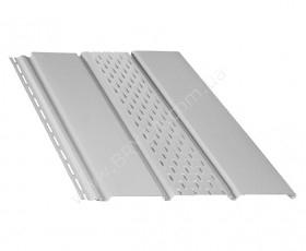 Софит (сайдинг) перфорированный, цвет белый / RAL 9010, Размер: 4000 мм х 305 мм = 1.22 м. кв