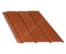 Софит (сайдинг) перфорированный, цвет кирпичный / RAL 8004, Размер: 4000 мм х 305 мм = 1.22 м. кв