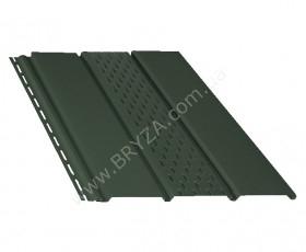 Софит (сайдинг) перфорированный, цвет зеленый / RAL 6020, Размер: 4000 мм х 305 мм = 1.22 м. кв