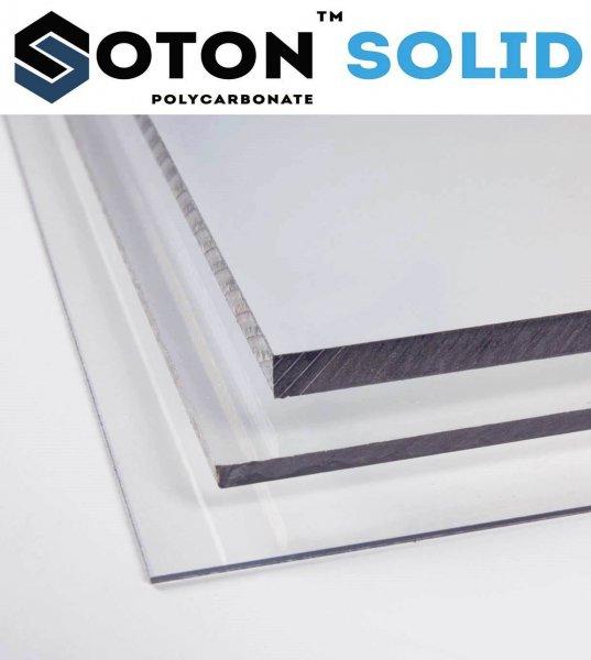Фото 1 Монолитный поликарбонат SOTON SOLID 2-10 мм (бесцветный/бронзовый) 341645