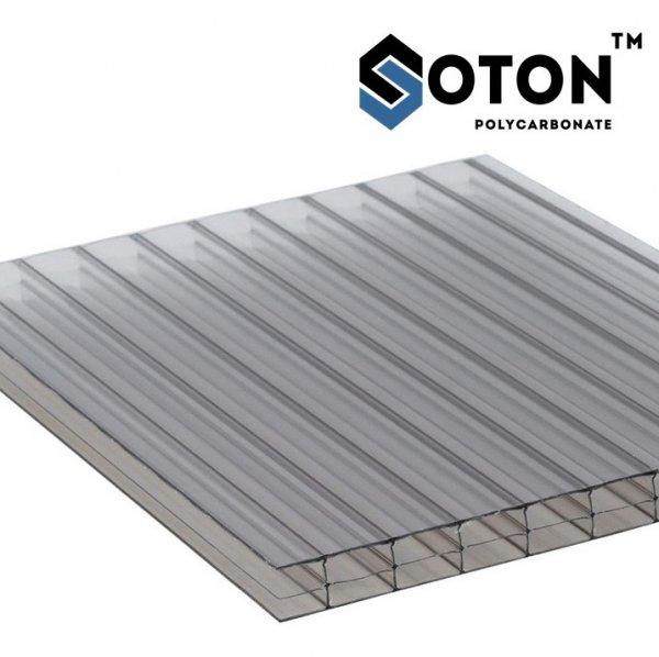 Фото 4 Сотовый поликарбонат SOTON 4 - 10 мм (прозрачный/бронзовый) ГОСТ 341457