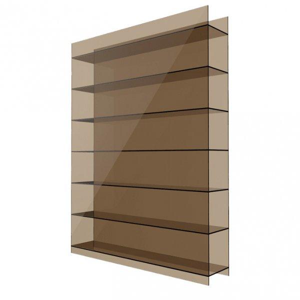 Фото  1 Сотовый поликарбонат 10мм Solidplast 1.5x3м бронзовый 1832877