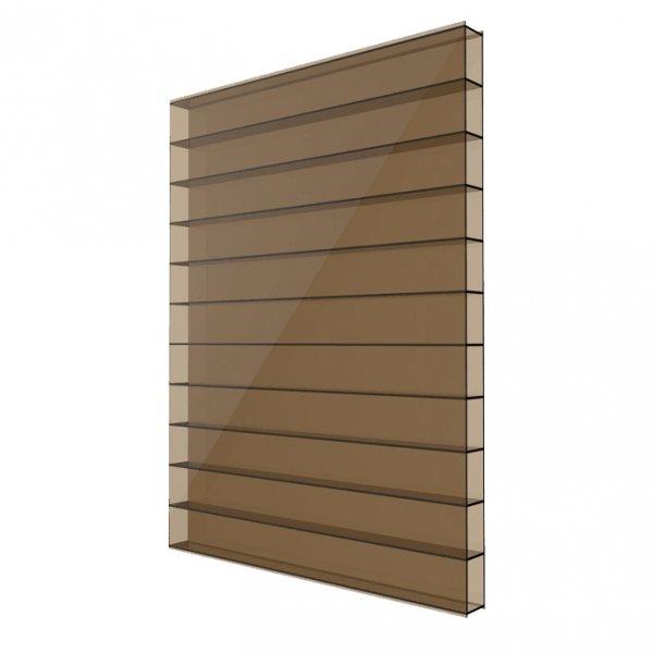 Фото  1 Сотовый поликарбонат 4мм Solidplast 1.5x3м бронзовый 1832859