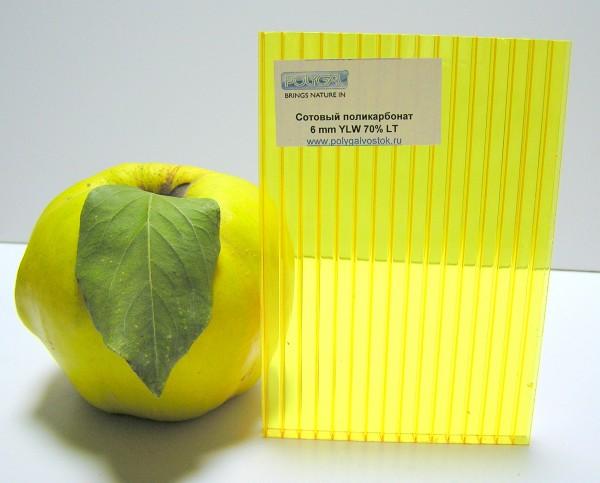 Сотовый поликарбонат 6 мм цветной ТМ Polygal
