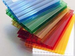 Сотовый поликарбонат 6 мм зеленый, синий, бронза, опал, красный 6м*2.1м