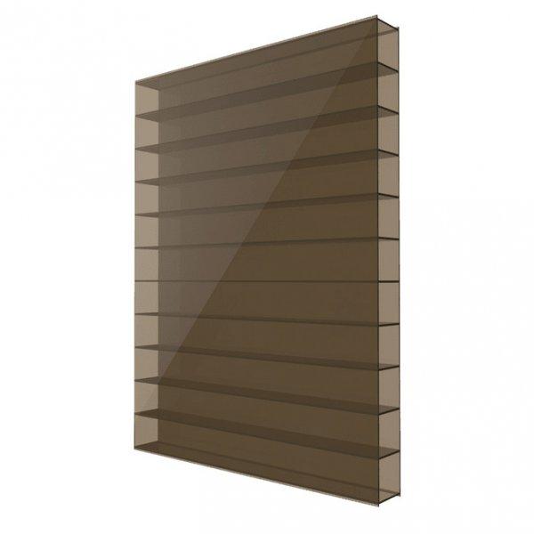 Сотовый поликарбонат 6мм Solidplast 2.1x3м бронзовый