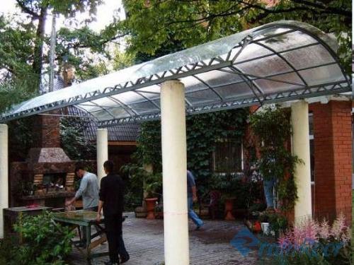 сотовый поликарбонат для навеса, козырька, теплиц и ограждений толщиной от 4 до 25 мм. в цвете и прозрачный