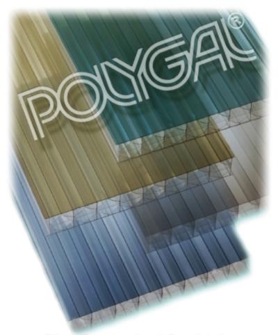 Сотовый поликарбонат Polygal Titan 10мм бронза