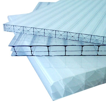 Сотовый поликарбонат Polygal Titan Sky 10мм прозрачный, Израельского производства