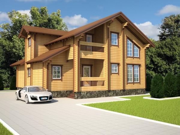 Современные дома с профилеваного бруса
