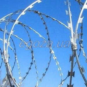 Спираль Егоза. Барьер спиральный СББ Егоза Кайман 700/7. Спиральная колючая проволока.