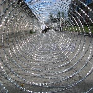 Спираль Егоза. Спиральная колючая проволока. Барьер спиральный СББ Егоза Кайман 1350/11