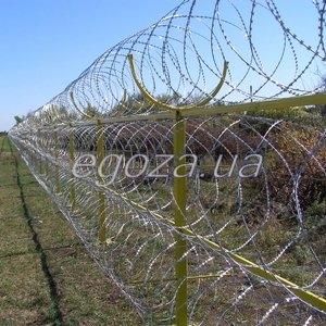 Спиральный барьер безопасности СББ Егоза-Супер. Кол-во скоб: 5,7,9,11,13. Диаметр бухты: от 600 мм. до 2400мм.